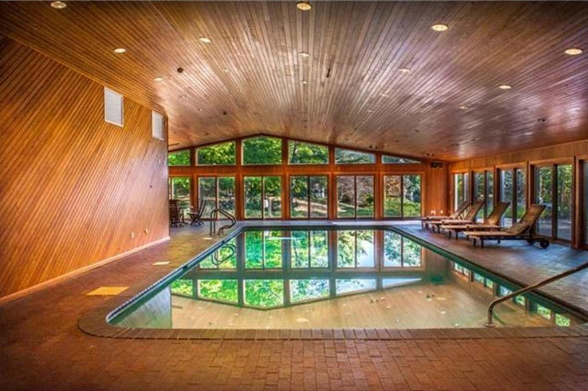 Indoor pool at 50 Cent's mansion