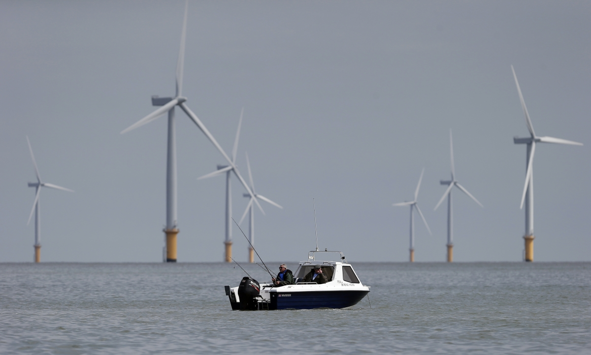 An offshore wind farm