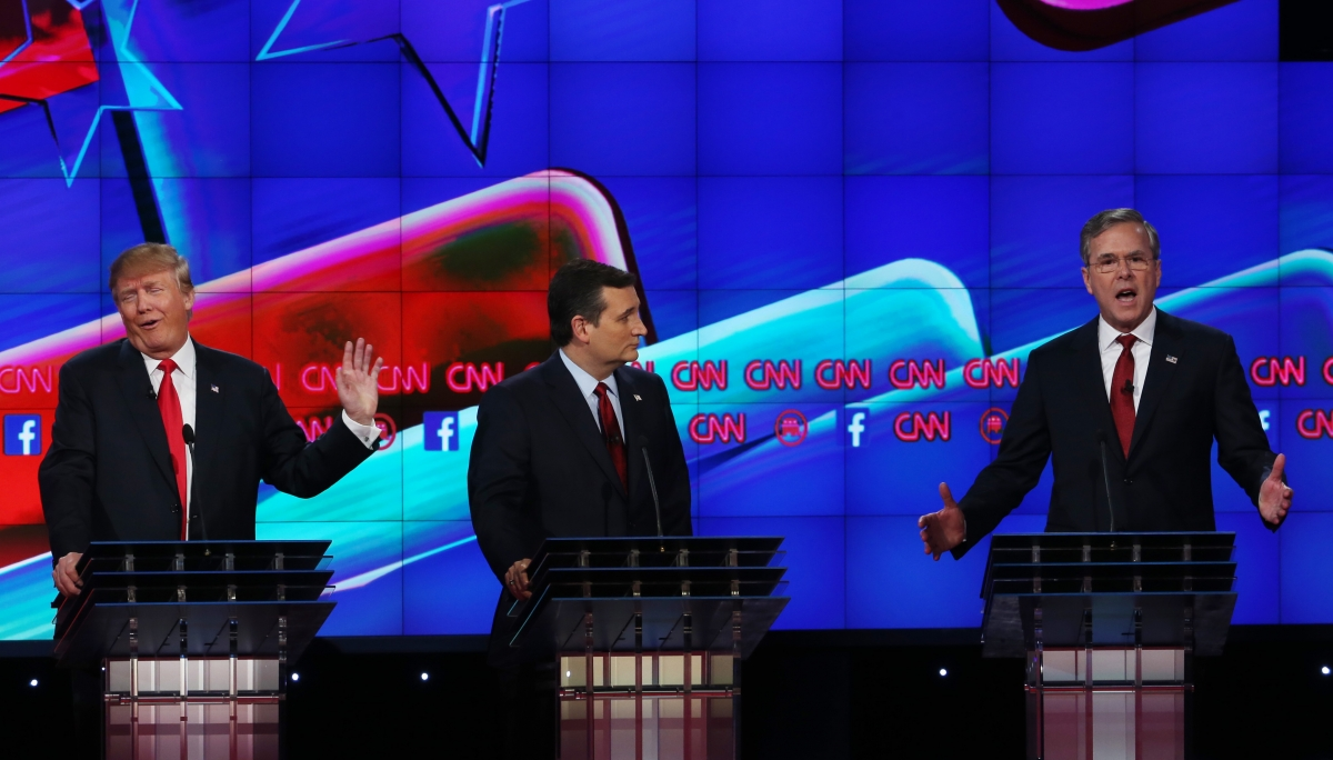 Donald Trump, Ted Cruz and Jeb Bush