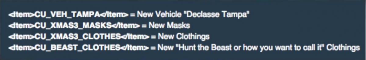 GTA 5 DLC leaked game code
