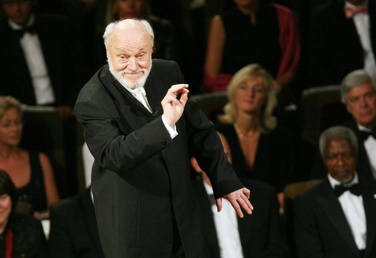 German conductor Kurt Masur