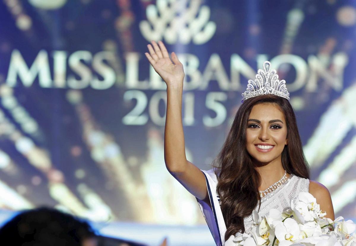 Miss Lebanon 2015 Valerie Abou Chacra winning