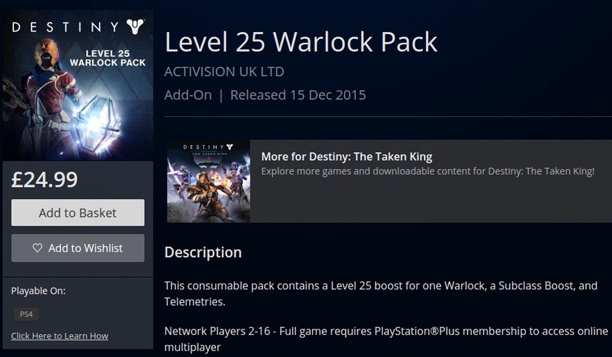Destiny Boost Pack