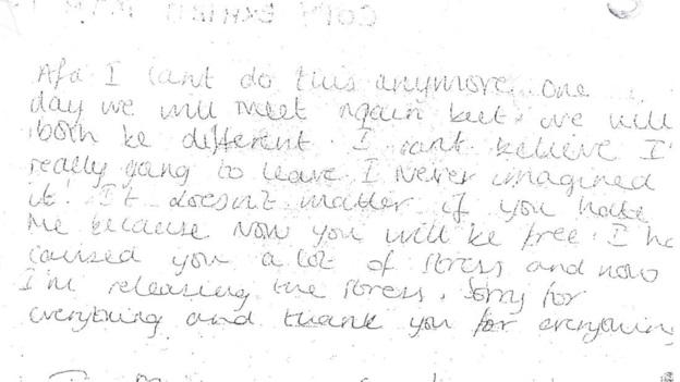 Shahena letter