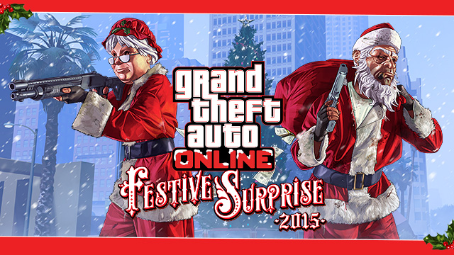 Gta 5 Online All Christmas Masks.Gta 5 Festive Surprise 2015 Dlc Full List Of Christmas Day