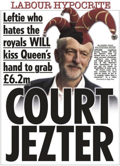 The Sun Corbyn Court Jezter 16 September