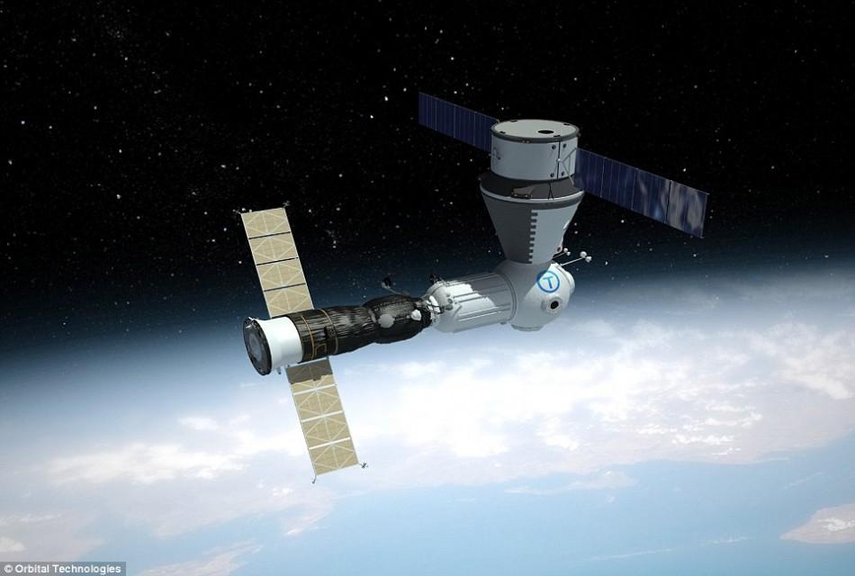 A Russian communication satellite