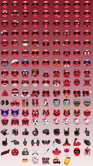 Deadpool emojis
