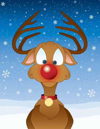 science of rudolph the reindeer s bright red nose shows why he is