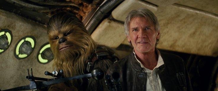 Han Solo and Chewbacca in Star Wars