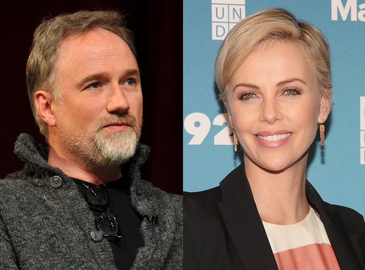 David Fincher and Charlize Theron