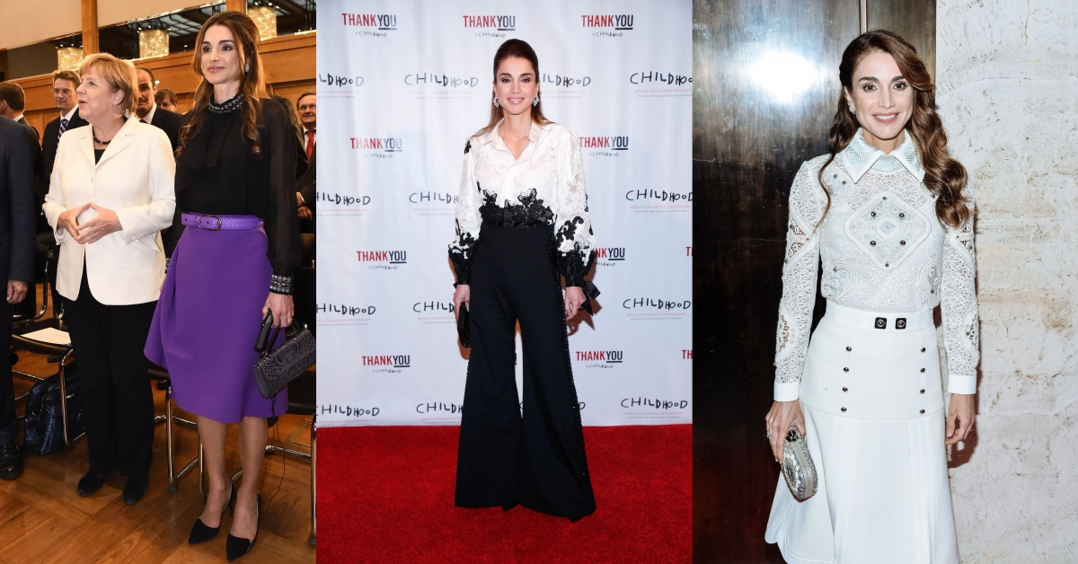 Queen Rania of Jordans style in 2015