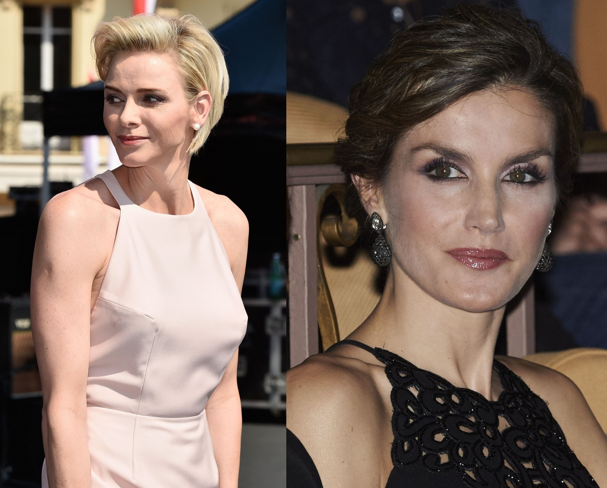 Princess Charlene and Queen Letizia