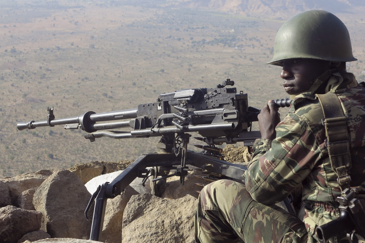 A Cameroonian soldier