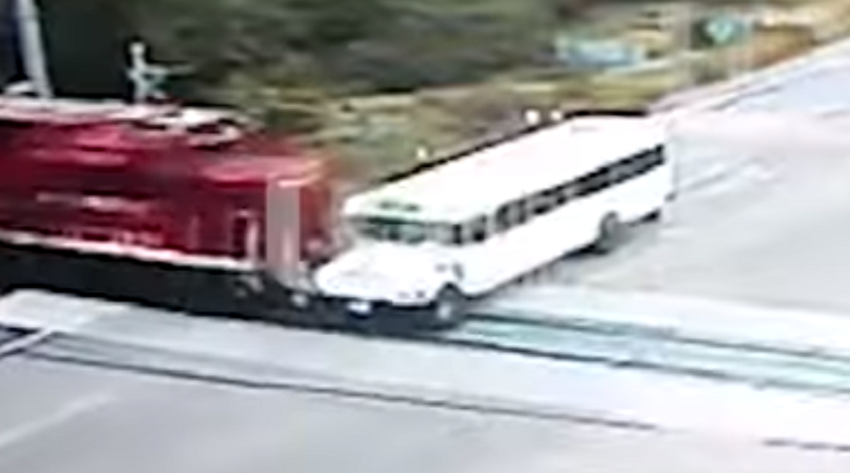 Train Bus Crash Sinaloa Mexico