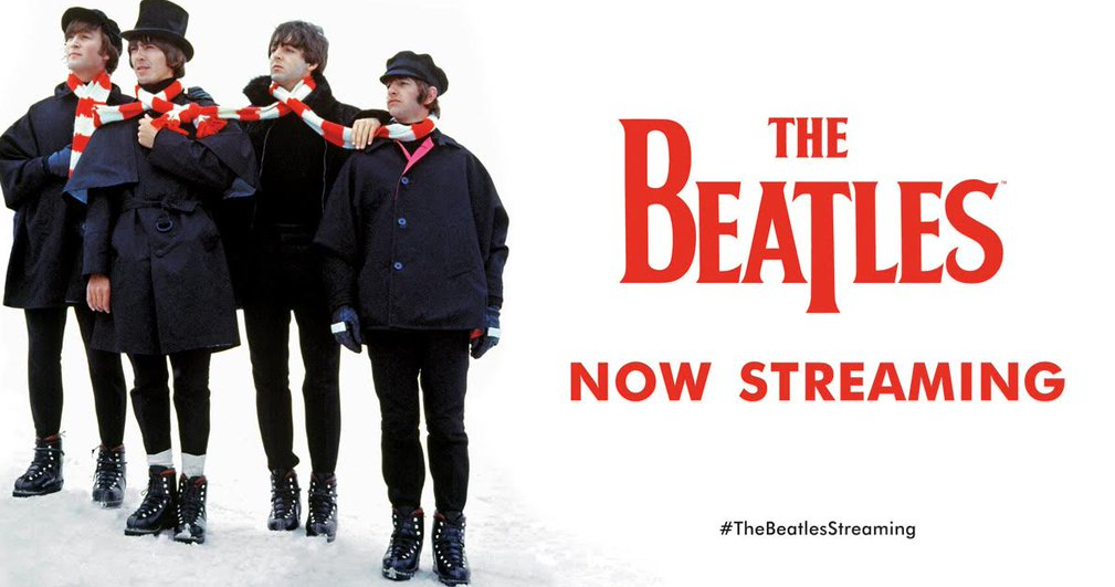The Beatles streaming Spotify