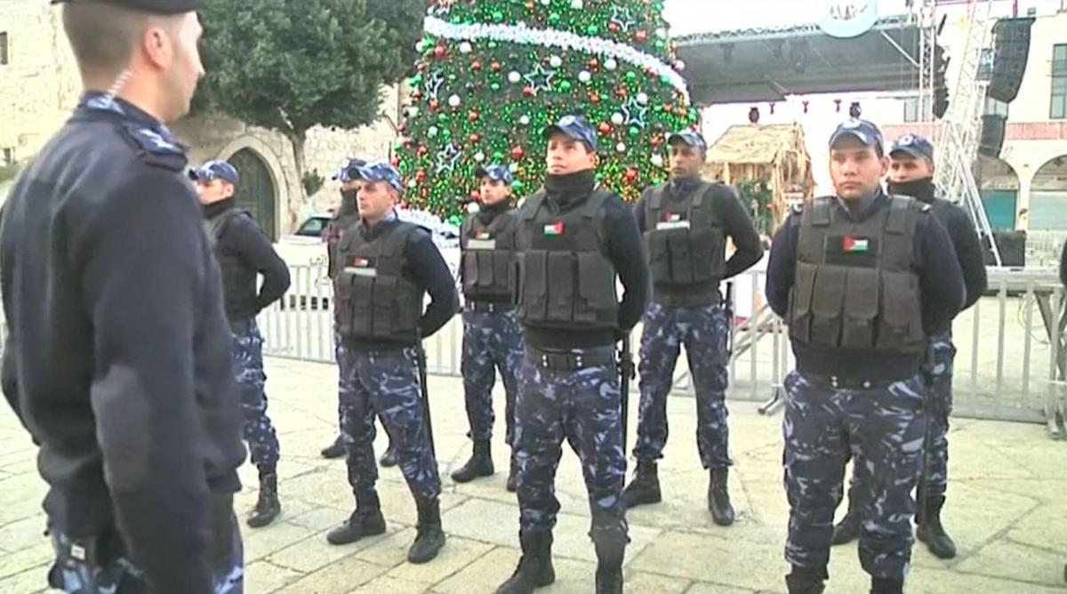Extra security personnel in Bethlehem