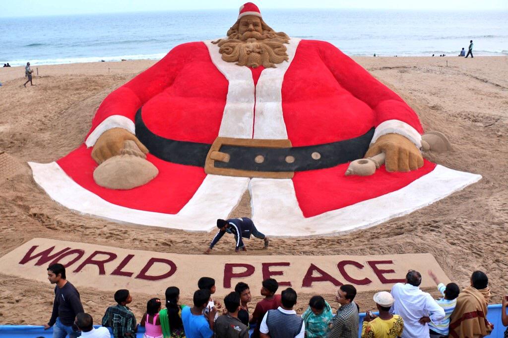 World's tallest Santa