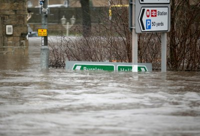 UK floods Mytholmroyd England