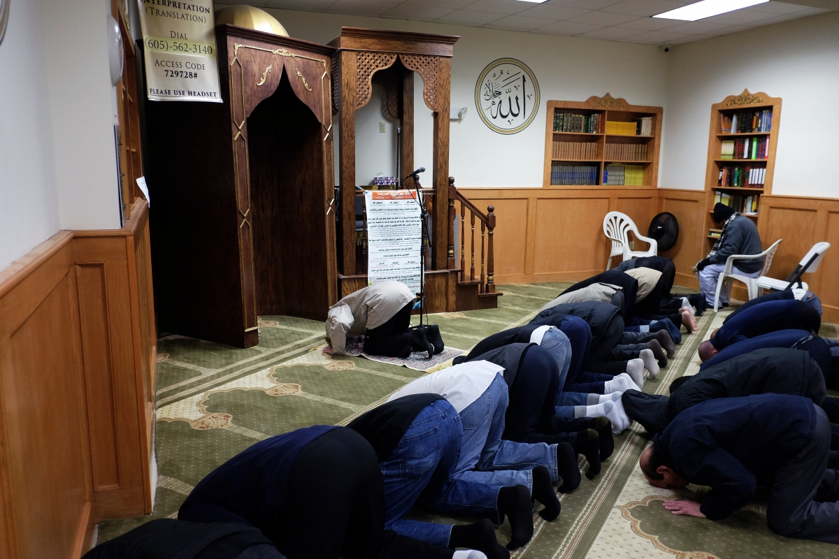 Prayers at a mosque