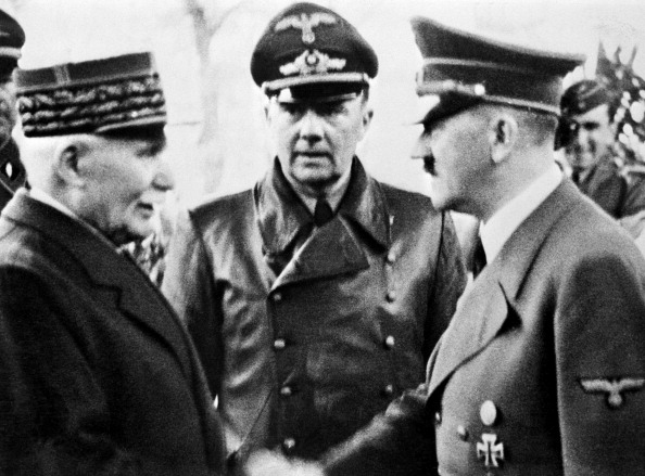 State Philippe Petain and Adolf Hitler