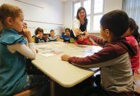 Refugees attend German school
