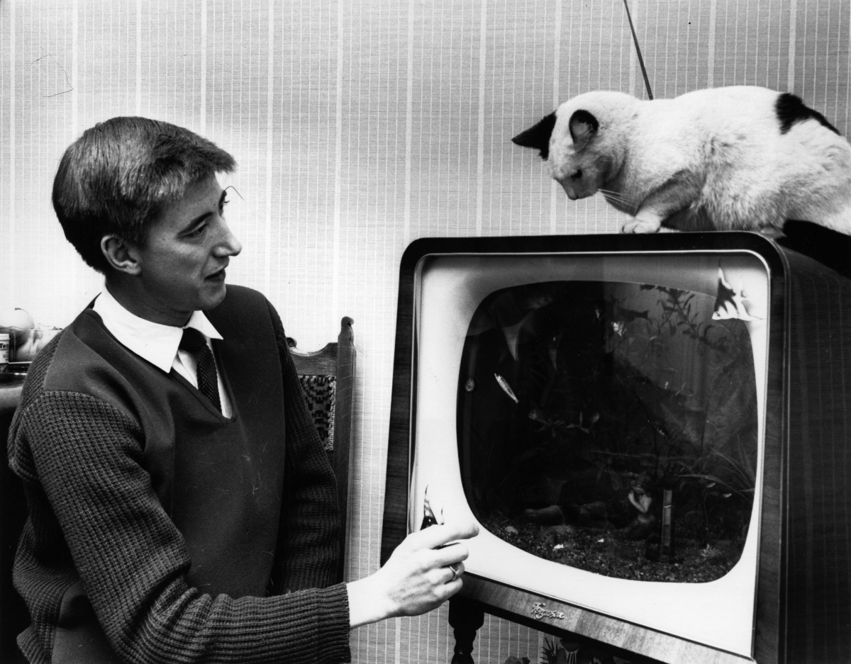 black and white television