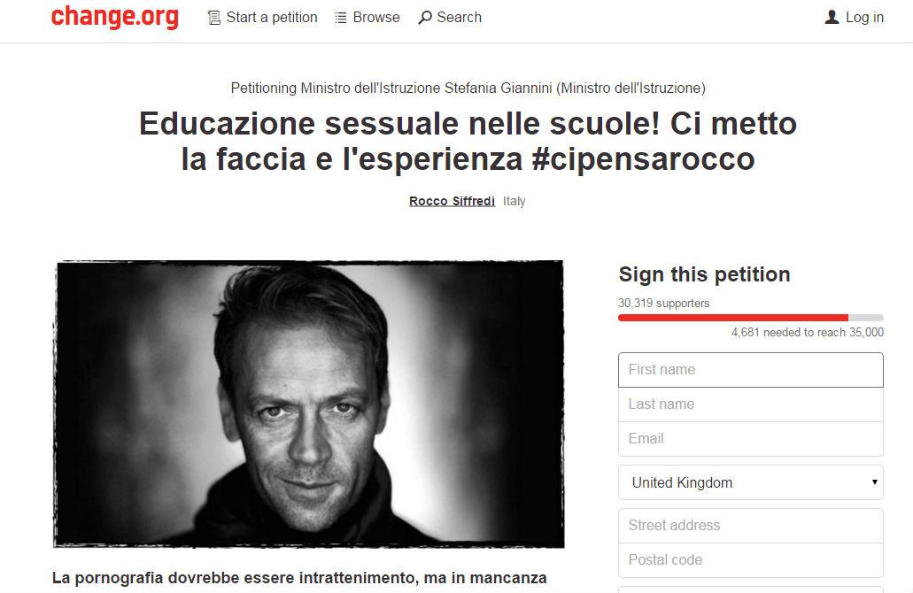 Italian porn star Rocco Siffredi