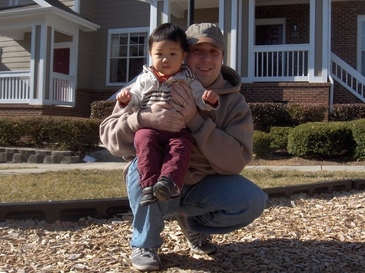 Eric Cooper and his son Cooper Chen