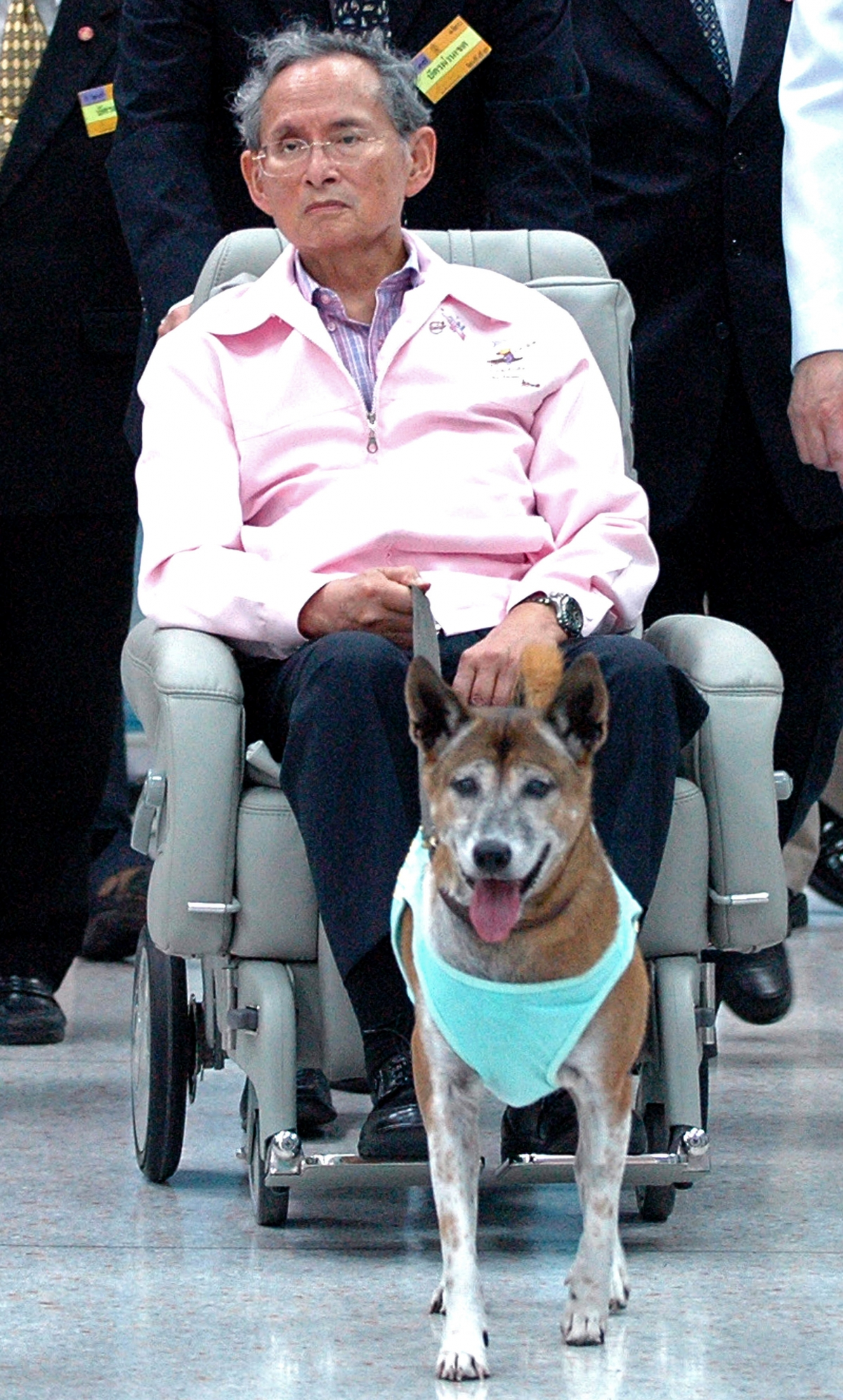 Thai king Bhumipol and his beloved dog