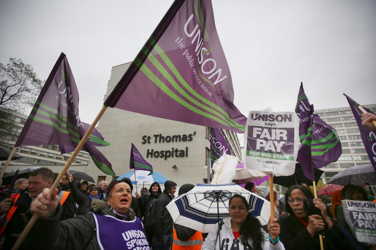 Junior doctors protest in England