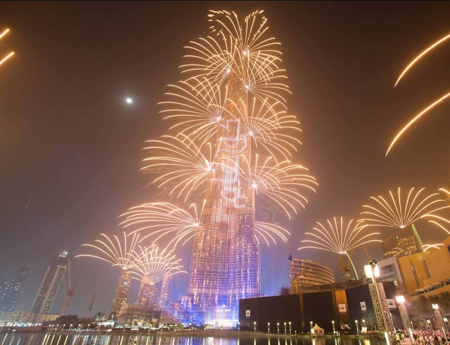 Dubai fireworks 2016