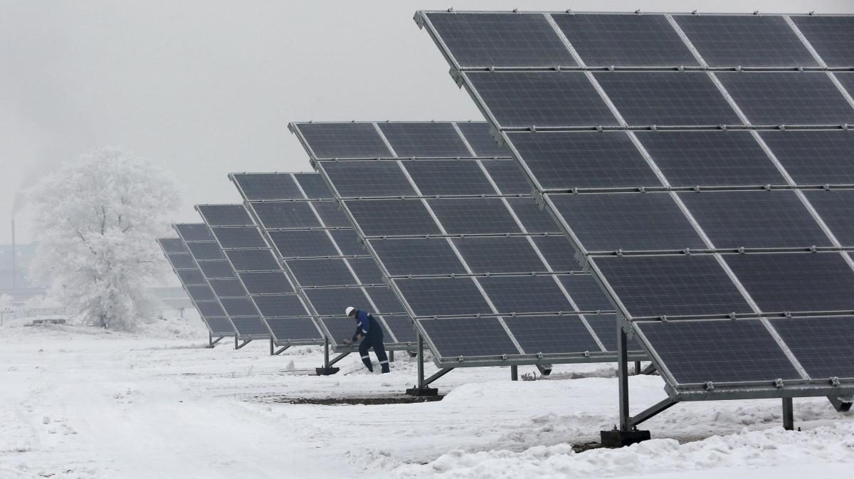 Solar Panels in Khakassia, Russia