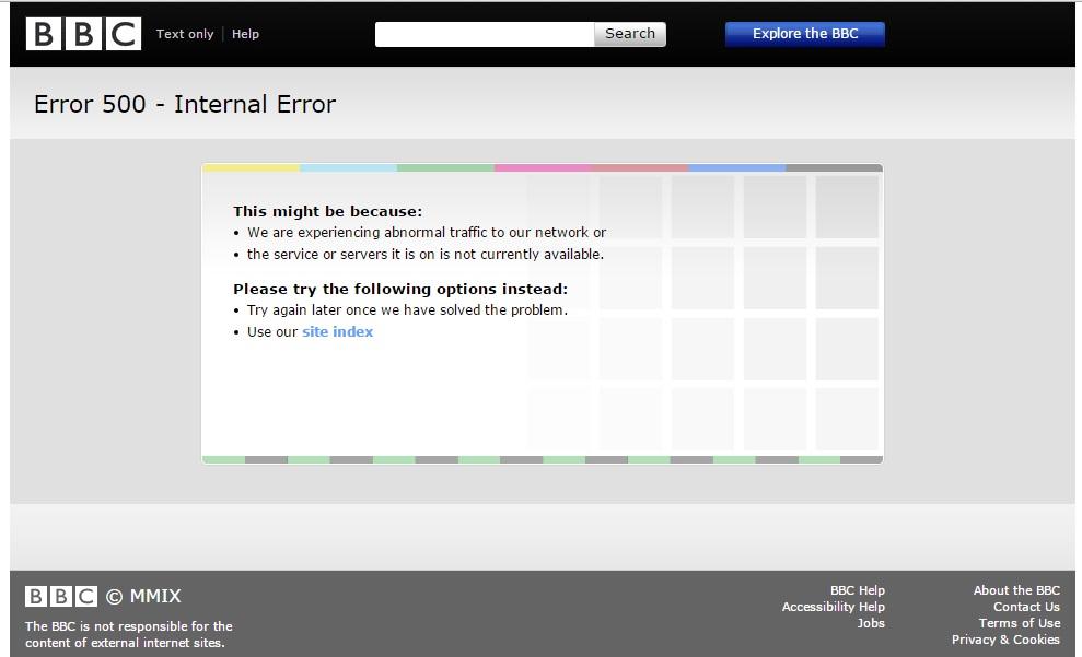 bbc down iplayer website not working