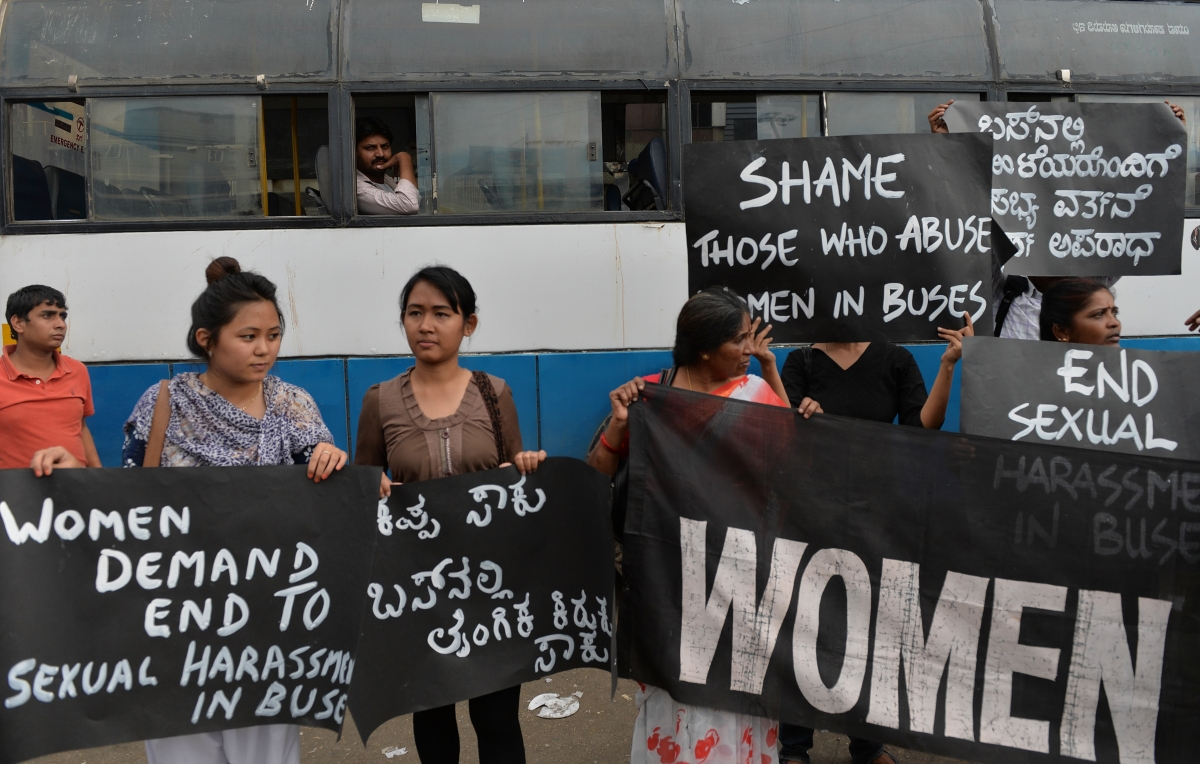 India protest against sexual harassment