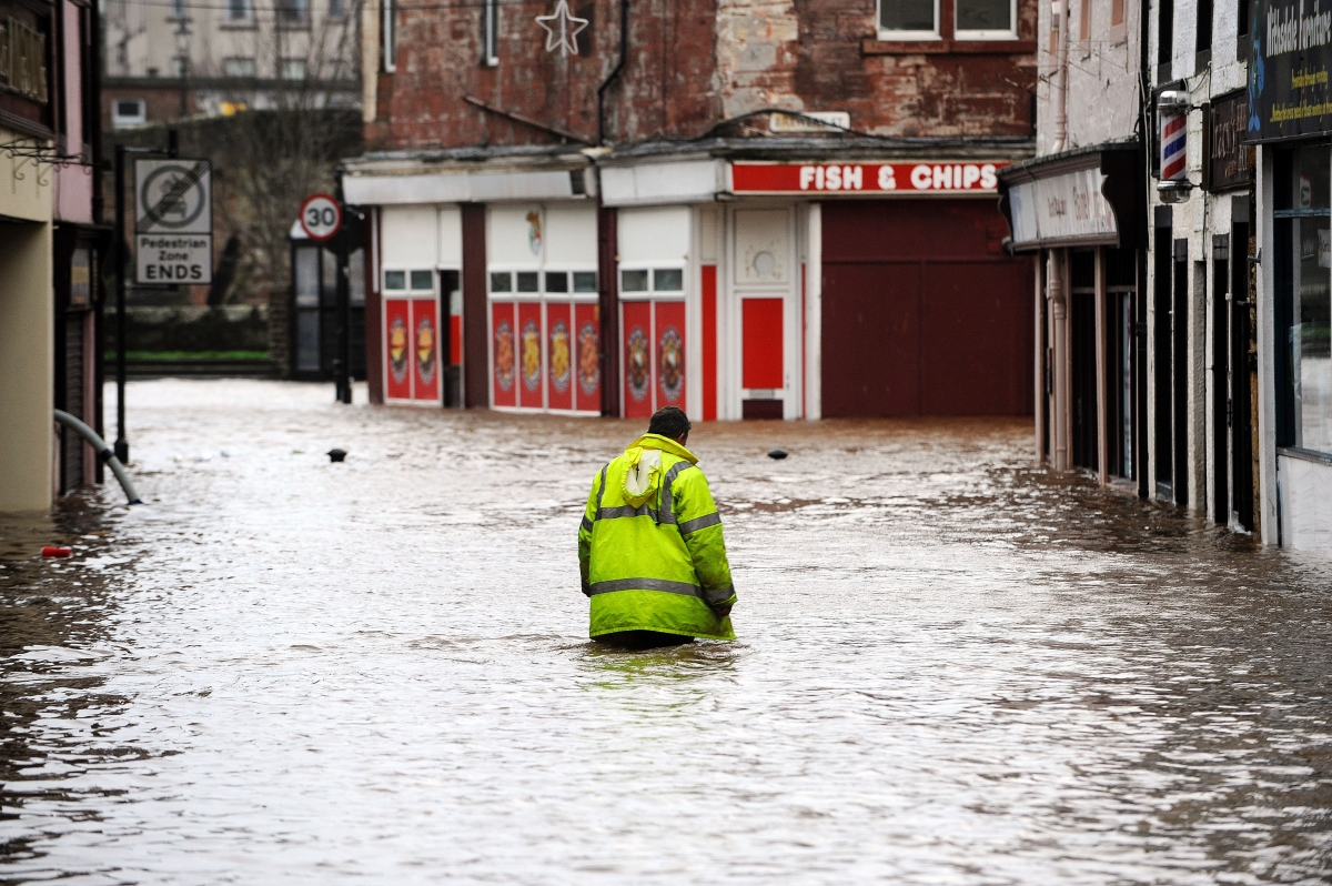 Storm Frank flooding