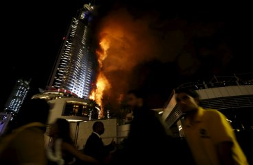 Dubai The Address Hotel Fire