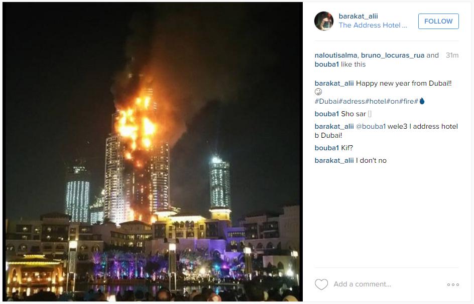Dubai fire The Address Hotel