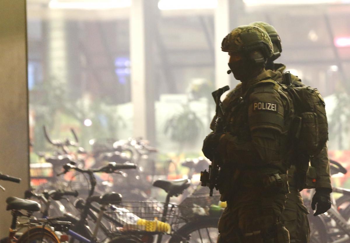German Police patrol Munich