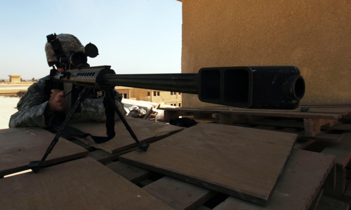 US sniper 50 calibre rifle