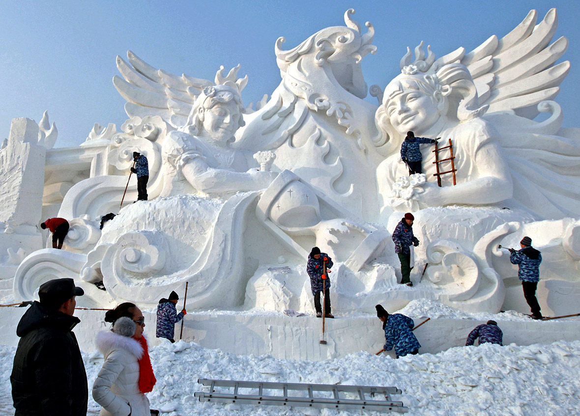 China frozen city gets ready for harbin international ice