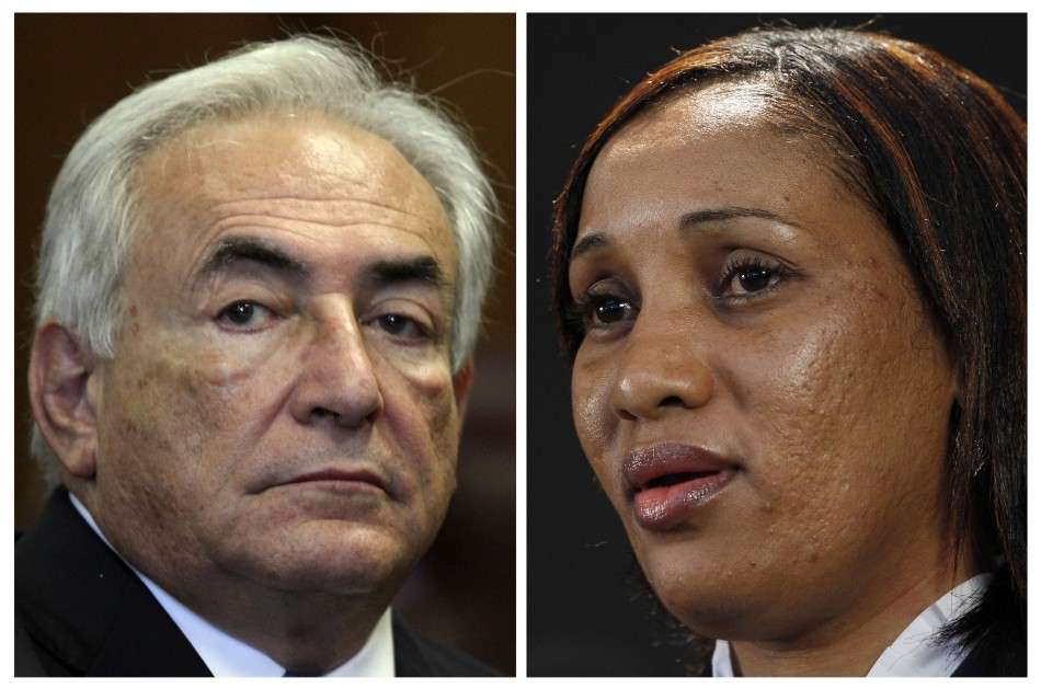 Combo of former International Monetary Fund Chief Dominique Strauss-Kahn (L) and Nafissatou Diallo(R)