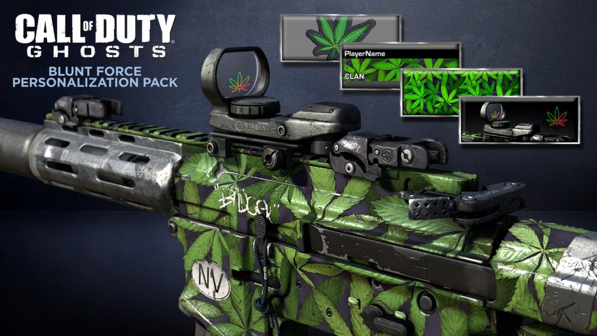 Call of Duty Gun Weed Skin