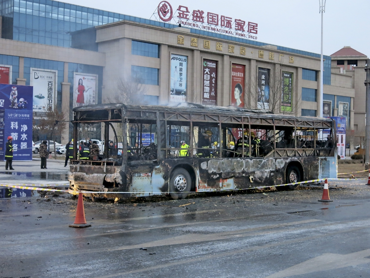 China bus arson