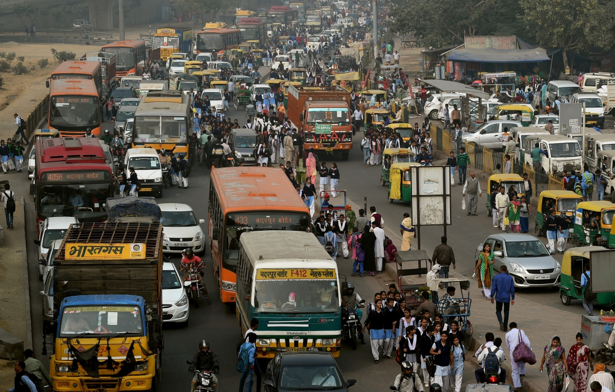 New Delhi traffic