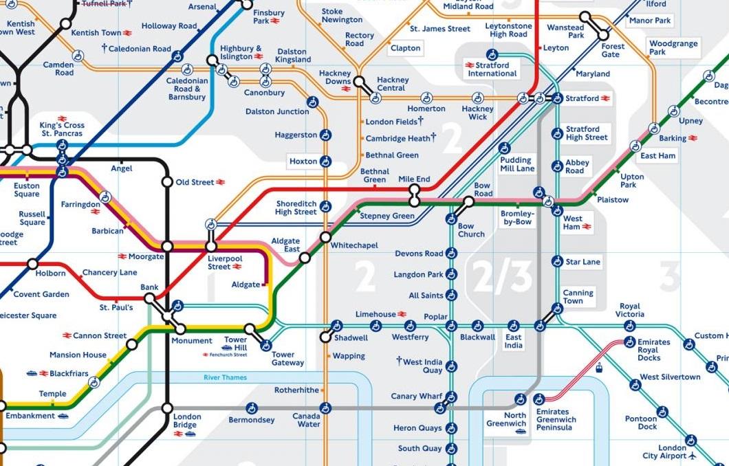 New London Underground map