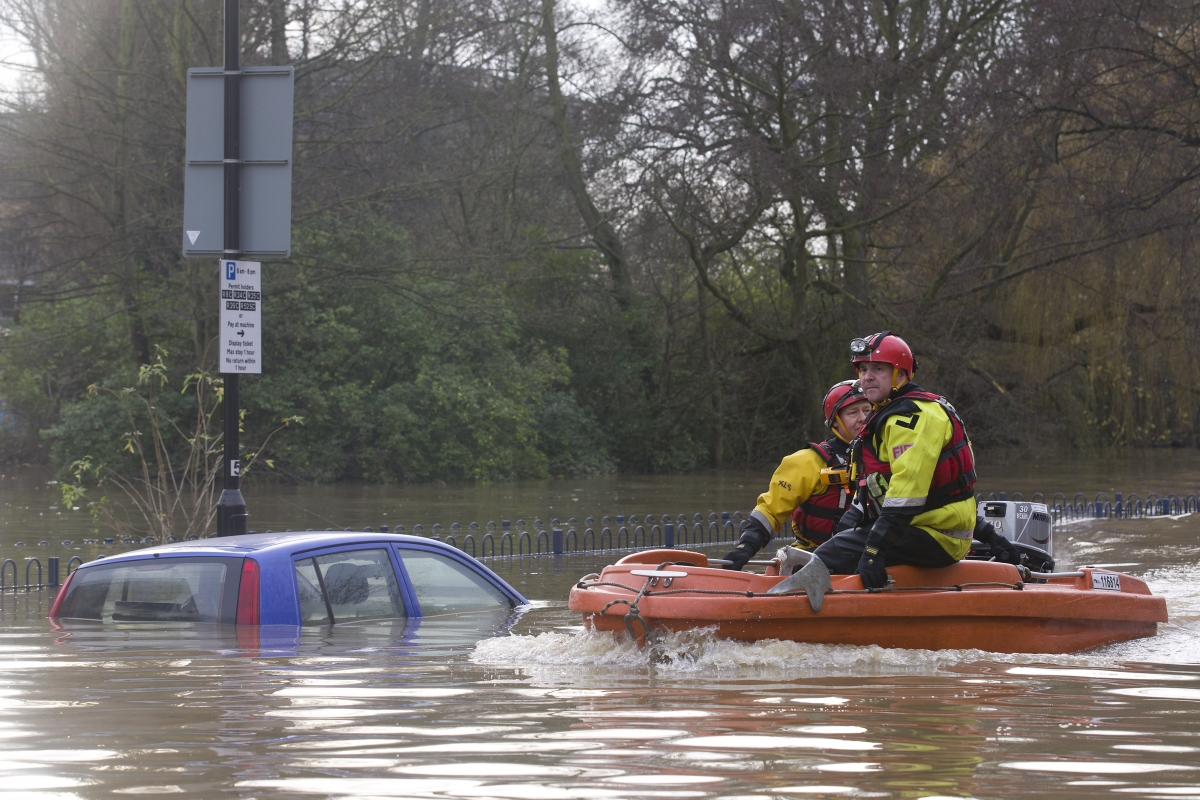 Flooding in York, England
