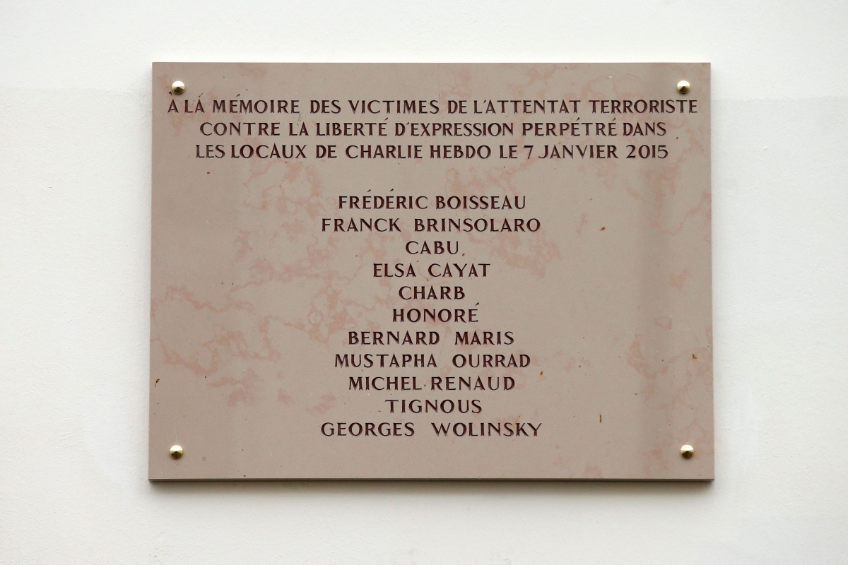 Commemorative plaque to the sl