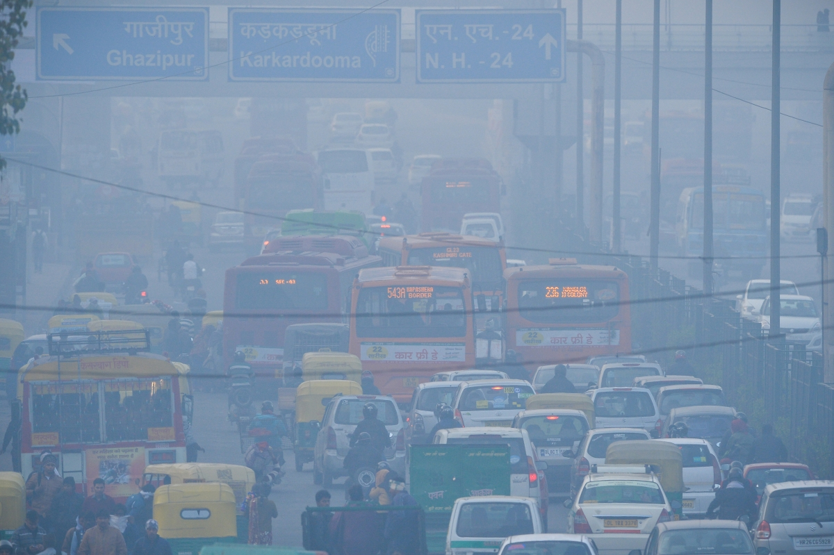 Delhi traffic and pollution