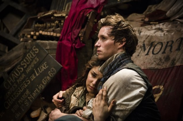 Eddie Redmayne in Les Misérables